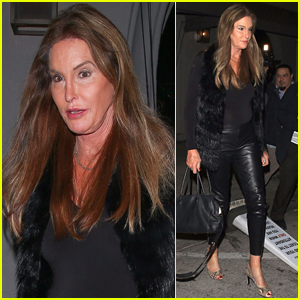 Caitlyn Jenner Rocks Leather Pants for Dinner in WeHo