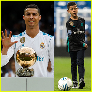 Cristiano Ronaldo Celebrates 5th Ballon d'Or Award Win with Son Cristiano Jr!