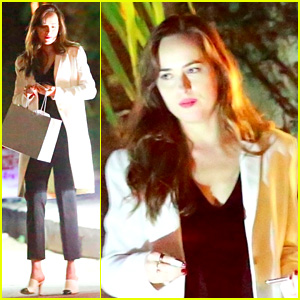 Dakota Johnson Starts Her Holiday Season at Mom Melanie Griffith's Party