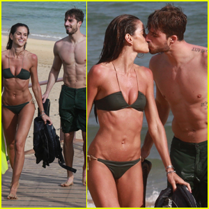 Izabel Goulart & Boyfriend Kevin Trapp Show Some PDA During Snorkeling Session