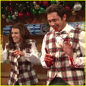 James Franco Spews Blood While Wrapping Gifts on 'SNL' - Watch Now!