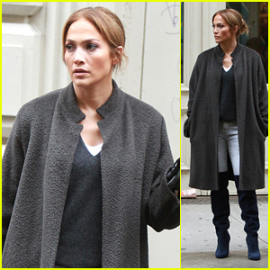 Jennifer Lopez Films 'Second Act' With Treat Williams in New York City!
