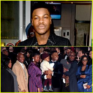 John Boyega Brings Parents & Family to 'Star Wars: The Last Jedi' Premiere!