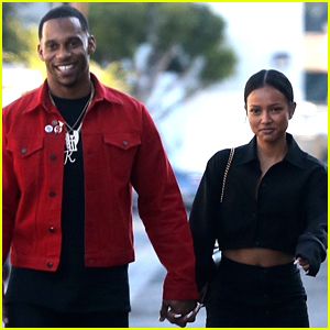 Karrueche Tran Holds Hands with Rumored Boyfriend Victor Cruz!