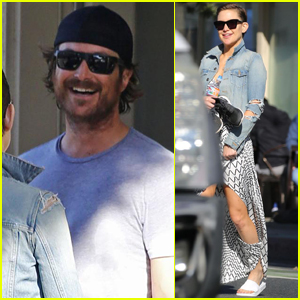 Kate Hudson Grabs Lunch with Her Brother Oliver in Santa Monica