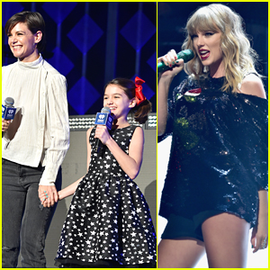 Katie Holmes & Daughter Suri Introduce Taylor Swift at Z100 Jingle Ball in NYC!