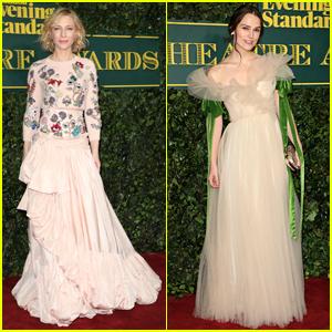 Cate Blanchett & Keira Knightley Go Glam for London Evening Standard Theatre Awards
