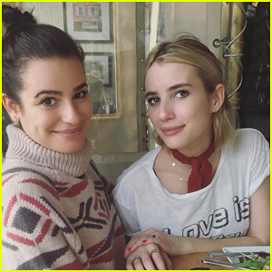 Lea Michele & Emma Roberts Are Spending Christmas Together!
