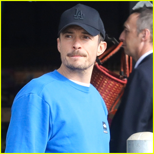 Orlando Bloom Shares Adorable Video Christmas Decorating with Son Flynn!