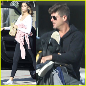 Robin Thicke's Pregnant Girlfriend April Love Geary Shows Off Baby Bump at 31 Weeks