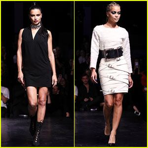Adriana Lima & Jasmine Sanders Hit the Catwalk at Maybelline Show in Berlin