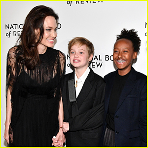 Angelina Jolie's Injured Daughter Shiloh Walks Red Carpet with Her at NBR Awards 2018
