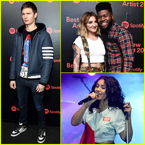Ansel Elgort, Khalid, Alessia Cara, & More Attend Spotify's Best New Artist Party