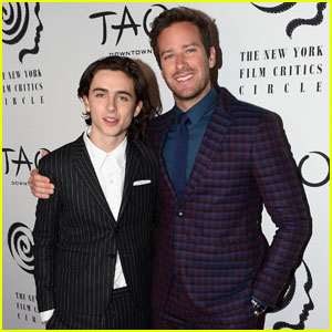 Armie Hammer & Timothee Chalamet Rock Stylish Suits at New York Film Critics Awards 2017