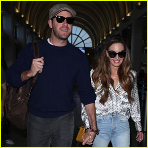 Armie Hammer & Wife Elizabeth Chambers Hold Hands at LAX