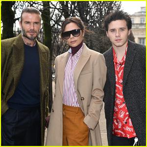 David, Victoria & Brooklyn Beckham Hit the Louis Vuitton Fall/Winter 2018 Show in Paris!