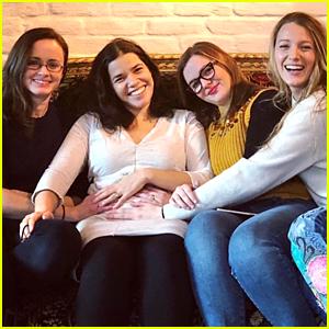 'Sisterhood' Cast Reunites to Celebrate America Ferrera's Pregnancy & Time's Up Movement!