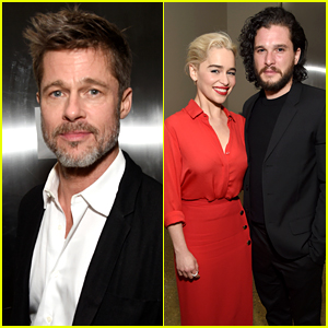 Brad Pitt Bids Over $100,000 to Watch 'Game of Thrones' with Emilia Clarke, But Loses Auction