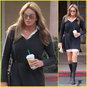 Caitlyn Jenner Grabs a Drink at Starbucks With Sophia Hutchins!