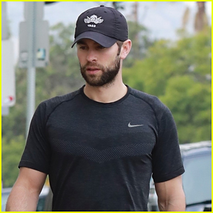 Chace Crawford Looks Buff Leaving the Gym in LA