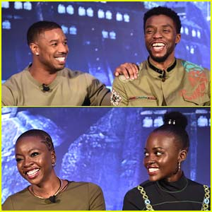 Chadwick Boseman & 'Black Panther' Co-Stars Team Up to Promote New Movie!