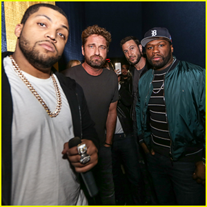 Gerard Butler & 50 Cent Team Up in Miami for 'The Den of Thieves' Special Screening!