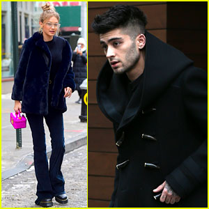 Gigi Hadid & Zayn Malik Hang Out at Her NYC Apartment