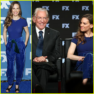 Hilary Swank & Donald Sutherland Join 'Trust' Co-Stars at Winter TCA Press Tour 2018