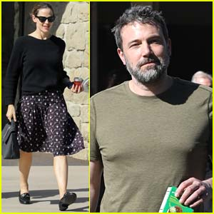Jennifer Garner & Ben Affleck Bring Their Kids to Sunday Church