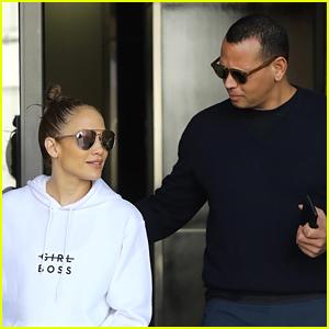 Jennifer Lopez & Alex Rodriguez Start Their Day Off at the Gym