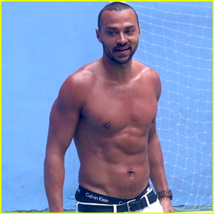 Jesse Williams Goes Shirtless, Bares Ripped Abs While ... Justin Timberlake Can T Stop