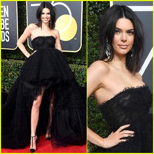 Kendall Jenner Shows Off Some Leg at Golden Globes 2018