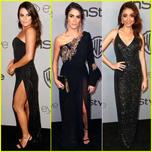 Lea Michele, Nikki Reed, & Sarah Hyland Show Some Skin at InStyle's Golden Globes 2018 After-Party