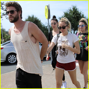Miley Cyrus Heads Out With Liam Hemsworth Before His 28th Birthday in Australia!