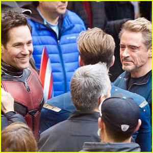Robert Downey Jr. & Paul Rudd Wrap 'Avengers 4' Filming!