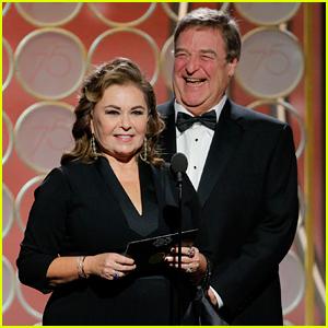 Roseanne Barr & John Goodman Reunite on Golden Globes Stage! (Video)
