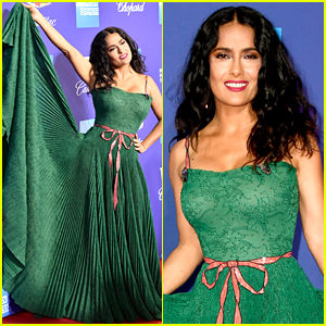 Salma Hayek Works the Red Carpet Like a Pro in Palm Springs
