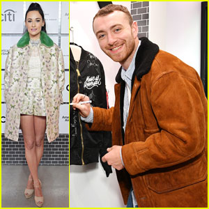 Sam Smith & Kacey Musgraves Attend Lucian Grainge's Artist Showcase Ahead of 2018 Grammys