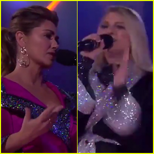 Shania Twain & Meghan Trainor Diss Each Other on 'Drop The Mic' - Watch!