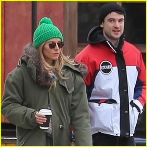 Sienna Miller & Tom Sturridge Reunite For Snowy Stroll in NYC