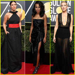 Black Time's Up Golden Globe Dresses Up For Auction