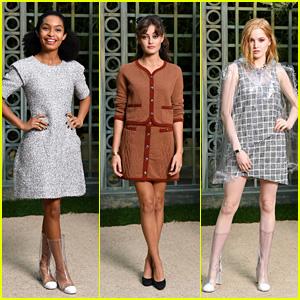 Yara Shahidi, Ella Purnell & Ellie Bamber Look Chic at Chanel Spring Summer 2018 Fashion Show!