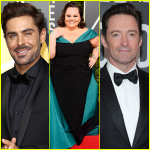 Zac Efron Joins Keala Settle & Hugh Jackman at Golden Globes 2018