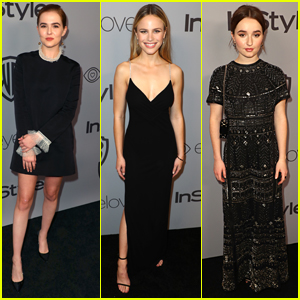 Zoey Deutch Joins Halston Sage & Kaitlyn Dever at InStyle's Golden Globes After Party 2018!