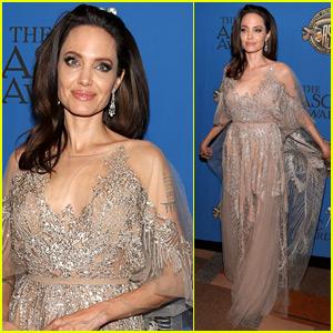 Angelina Jolie Shines at American Society Of Cinematographers Awards