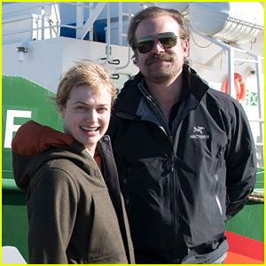 David Harbour & Girlfriend Alison Sudol Board Ship Headed to Antarctica!