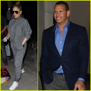 Jennifer Lopez & Alex Rodriguez Meet Up For Dinner Date!