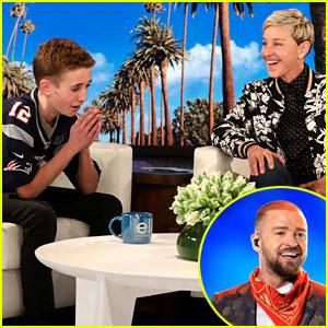 Justin Timberlake Surprises Super Bowl Selfie Kid on 'Ellen' (Video)