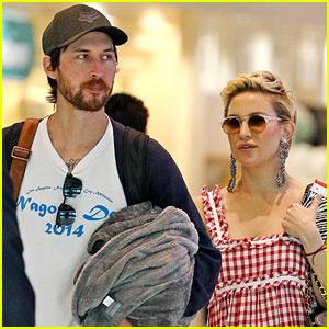 Kate Hudson & Boyfriend Danny Fujikawa Jet Out of Sydney