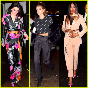 Kendall Jenner, Kaia Gerber, & Naomi Campbell Team Up for Off-White x Jimmy Choo Dinner